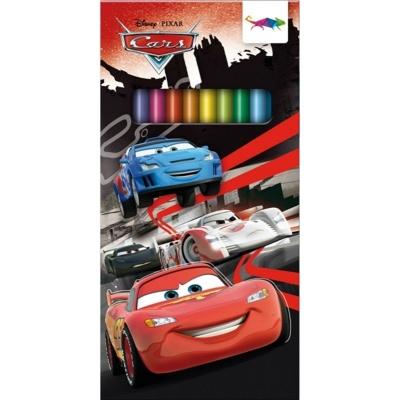 Trojúhelníkové pastelky Cars 12 barev
