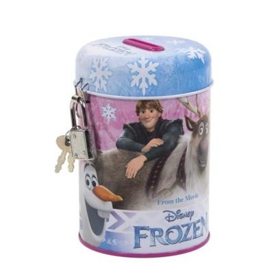 Kovová pokladnička kasička Frozen vločky