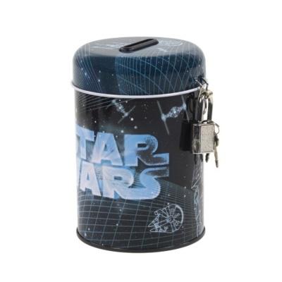 Kovová pokladnička kasička Star Wars tmavá