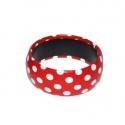 Náramek s puntíky - červený