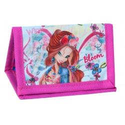 Dětská textilní peněženka se šnůrkou víla Winx
