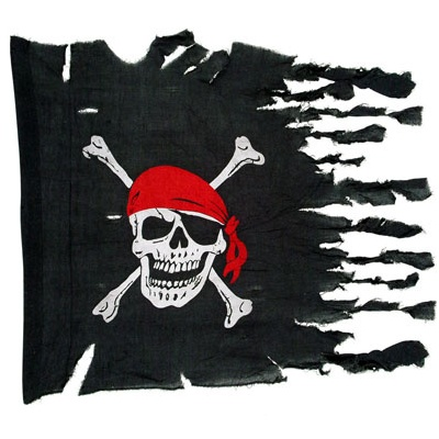 Pirátská vlajka - potrhaná