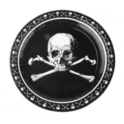 Papírové talíře - piráti 8ks