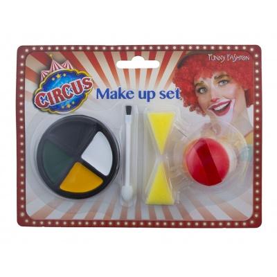 Červený nos a make up - klaun