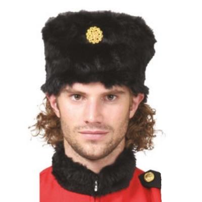 Ruská čepice beranice - černá