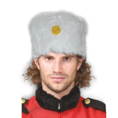 Ruská čepice beranice - bílá