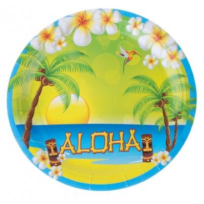 Papírové talíře - Aloha Havaj 8ks