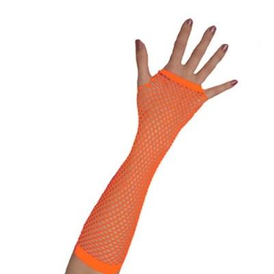 Rukavice síťovaná neon - oranžová