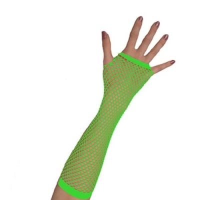 Rukavice síťovaná neon - zelená