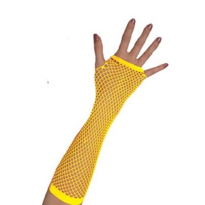 Rukavice síťovaná neon - žlutá
