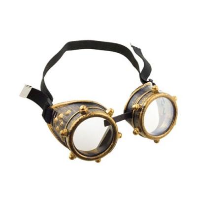 Brýle steampunk zlaté