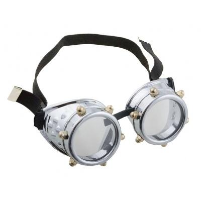 Brýle steampunk stříbrné