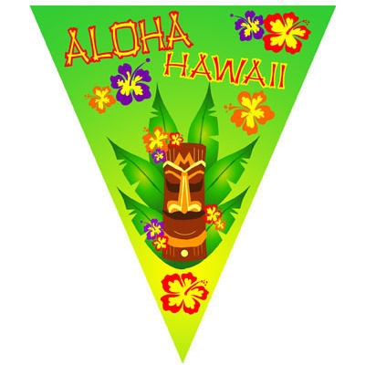 Girlanda vlajková - Aloha Havaj 5m