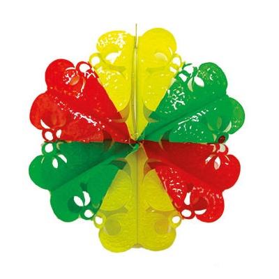Dekorace barevná květina 30cm