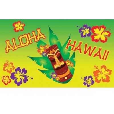 Dekorace vlajka Aloha Havaj 150 x 90 cm