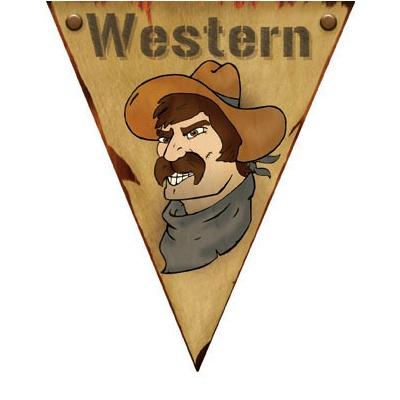 Girlanda vlajková Western - 5 m