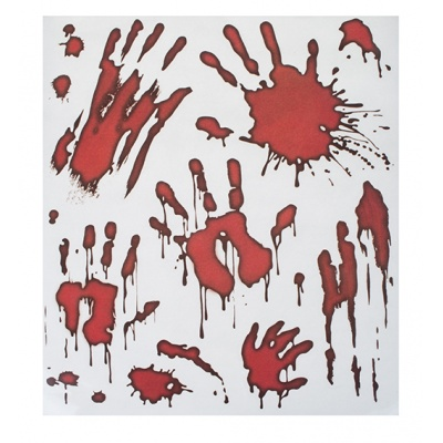 Nálepky na okno - zombie - krvavé