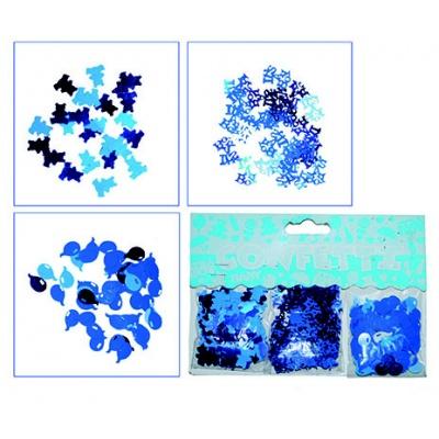 Konfety modré - 3 motivy v balení
