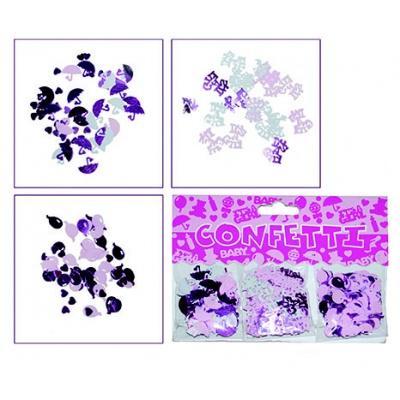 Konfety růžové - 3 motivy v balení