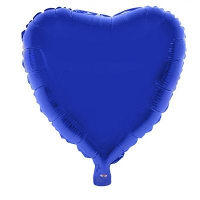Foliový balónek - srdce modré