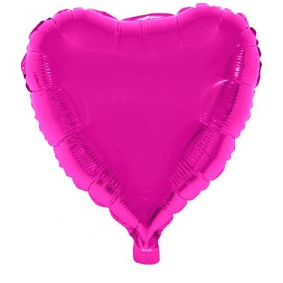 Foliový balónek - srdce růžové