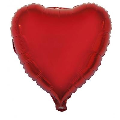 Foliový balónek - srdce červené