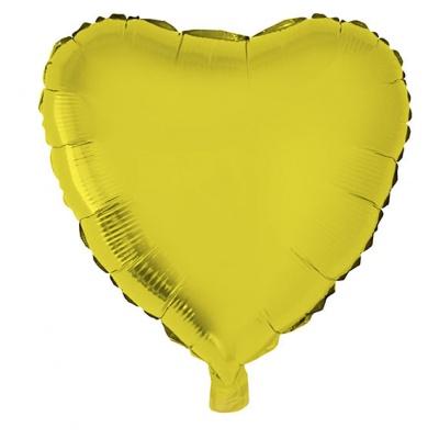 Foliový balónek - srdce zlaté