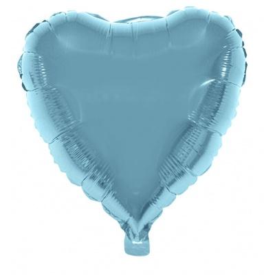 Foliový balónek - srdce světle modré