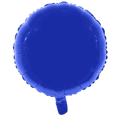 Foliový balónek - kulatý modrý