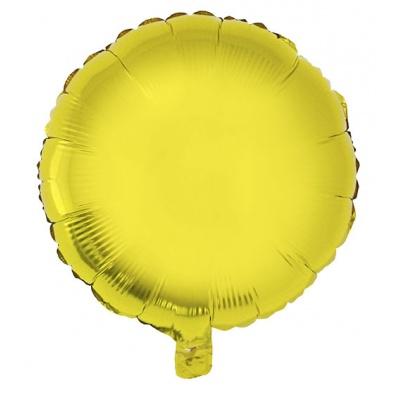 Foliový balónek - kulatý zlatý