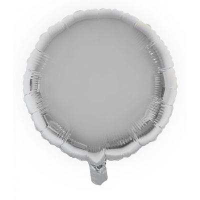 Foliový balónek - kulatý stříbrný