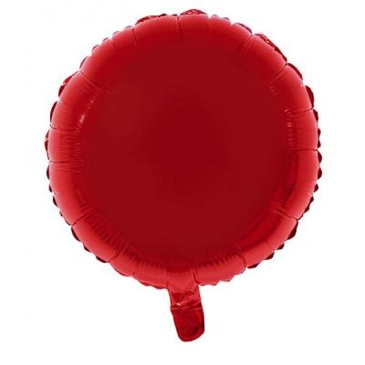 Foliový balónek - kulatý červený