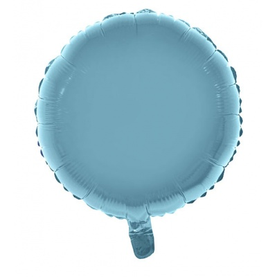 Foliový balónek kulatý světle modrý 46cm