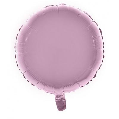 Foliový balónek kulatý světle růžový 46cm
