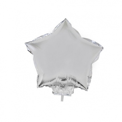 Foliový balónek - hvězda stříbrná