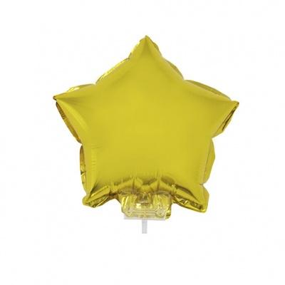 Foliový balónek - hvězda zlatá
