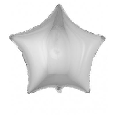Foliový balónek - hvězda stříbrná velká