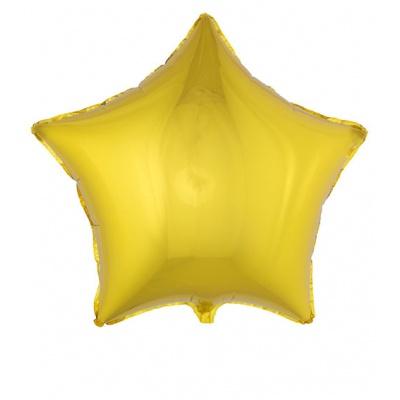 Foliový balónek - hvězda zlatá velká