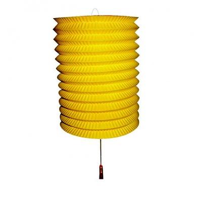 Papírový lampion na svíčku - žlutý