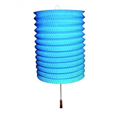 Papírový lampion modrý