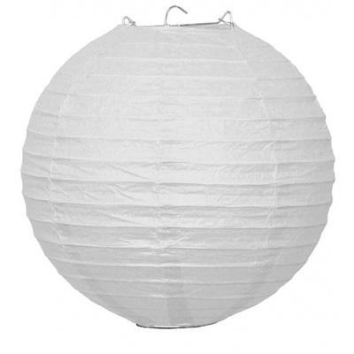 Papírový kulatý lampion - bílý