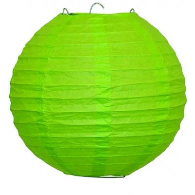Papírový kulatý lampion - zelený