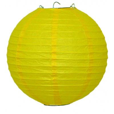 Papírový kulatý lampion - žlutý