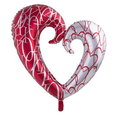 Foliový balónek - srdce velké