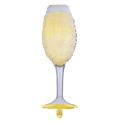 Foliový balónek sklenka šampaňské 100 cm
