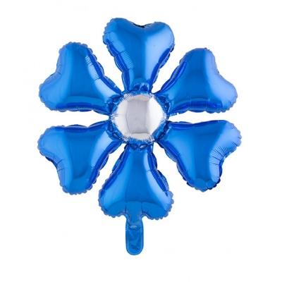 Foliový balónek květina modrá 70cm
