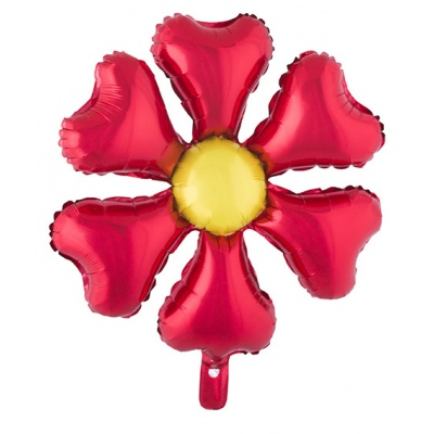 Foliový balónek - květina červená