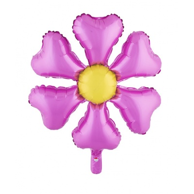 Foliový balónek květina růžová 70cm