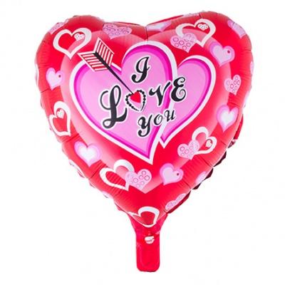 Foliový balónek - srdce červené I Love You