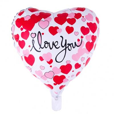 Foliový balónek - srdce I Love You